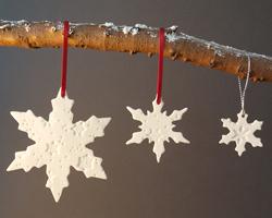 snowflake christmas decorations - Christmas Ceramics