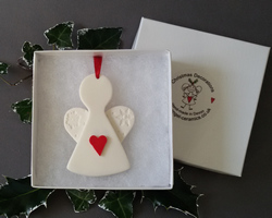 Ceramic Christmas Tree Decorations.Angel Ceramics Christmas Tree Decorations